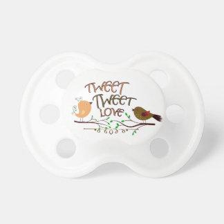 ComXCustomTees Tweet Tweet Love Baby Pacifier