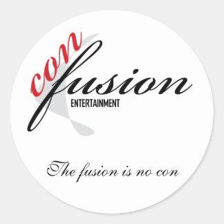 Con Fusion, The fusion is no con Classic Round Sticker