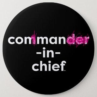 Con Man In Chief 6 Inch Round Button