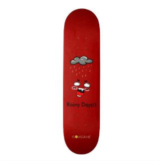 Concave-rainy days skate deck