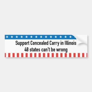 Concealed Carry Bumper Sticker