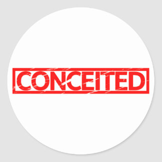 Conceited Stamp Classic Round Sticker
