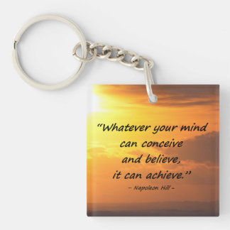 Conceive and Believe. . .  Motivate, Inspire, LOA, Keychain