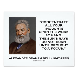"""Concentrate All Your Thoughts Upon Work At Hand 4.25"""" X 5.5"""" Invitation Card"""