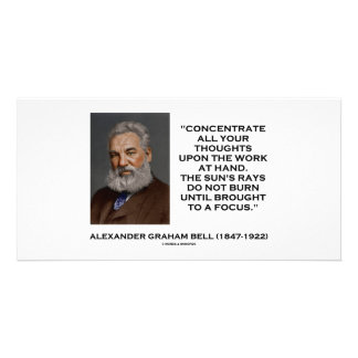 Concentrate All Your Thoughts Upon Work At Hand Photo Greeting Card