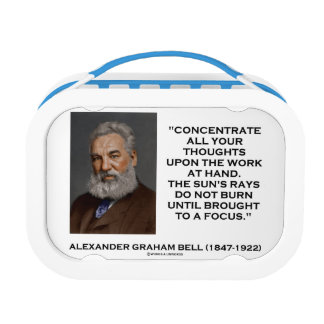 Concentrate All Your Thoughts Upon Work Bell Quote Lunch Box