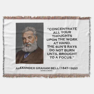 Concentrate All Your Thoughts Upon Work Bell Quote Throw Blanket