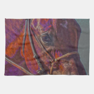 Concentration in Color Kitchen Towel Western Horse