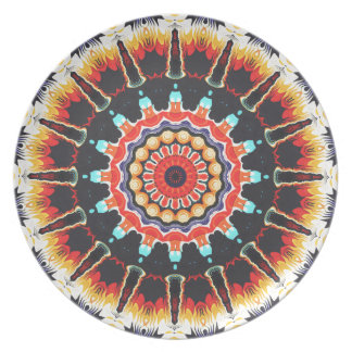 Concentric Balance of Colors Party Plates