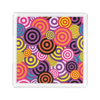 Concentric Circles #2 Acrylic Tray