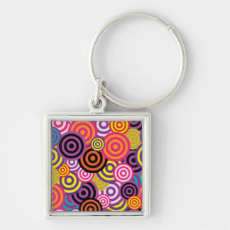 Concentric Circles #2 Keychain