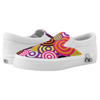 Concentric Circles #2 Slip-On Sneakers