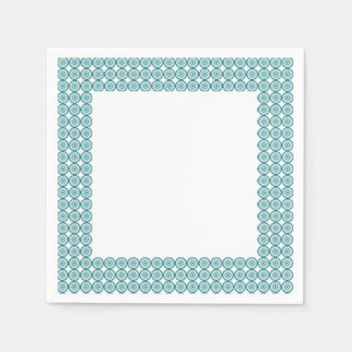 Concentric circles blue paper napkin