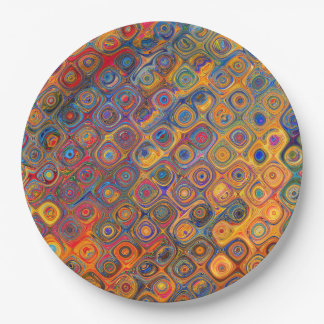 Concentric Circles Paper Plate