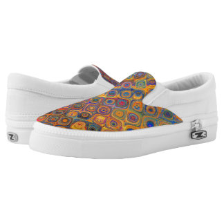 Concentric Circles Slip-On Sneakers