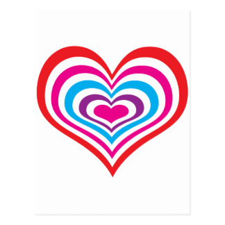 Concentric Hearts Postcard