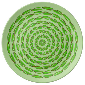 Concentric Leaf Rings by Kenneth Yoncich Plate