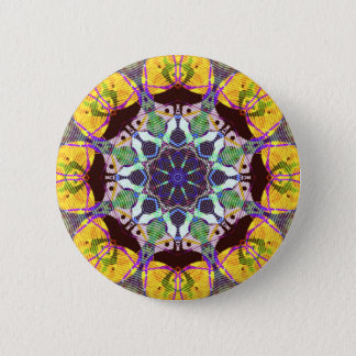 Concentric Lines of Color 2 Inch Round Button