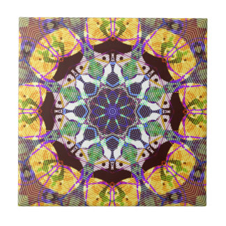 Concentric Lines of Color Tile
