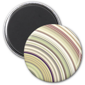Concentric Rings Abstract 2 Inch Round Magnet