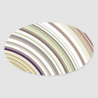 Concentric Rings Abstract Oval Sticker