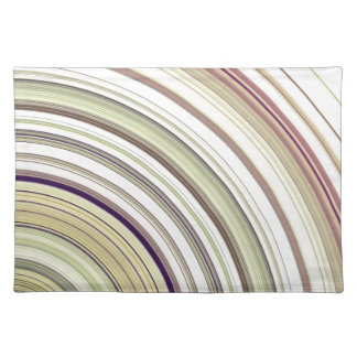 Concentric Rings Abstract Placemat