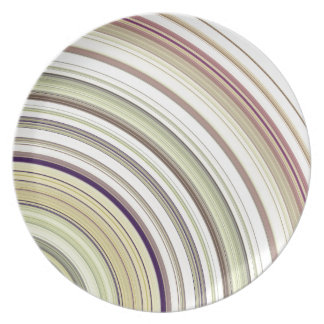 Concentric Rings Abstract Plate