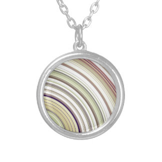 Concentric Rings Abstract Silver Plated Necklace