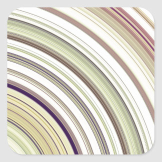Concentric Rings Abstract Square Sticker