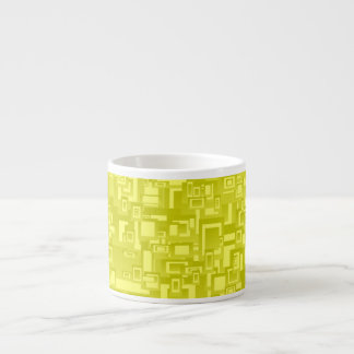 Concentric Yellow Geometric Abstract Art