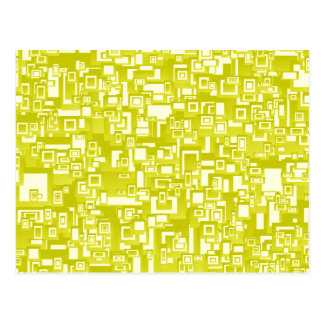 Concentric Yellow Geometric Abstract Art Postcard