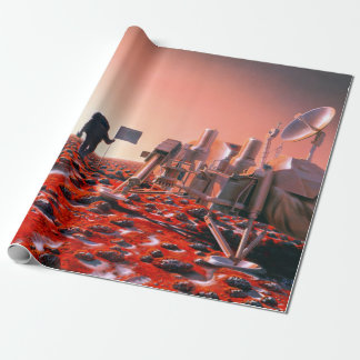 Concept Art of Future Manned Mars Mission Wrapping Paper