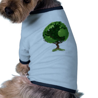 Concept d arbre du monde de globe manteaux pour toutous