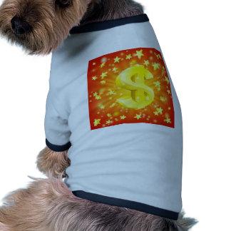 Concept d étoile d argent du dollar vêtements pour chien