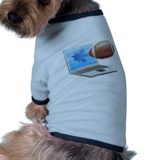 Concept d ordinateur portable du football manteaux pour chien