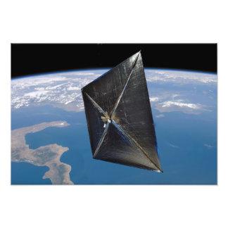 Concept d'artiste de NanoSail-D dans l'espace Impression Photo