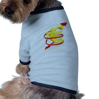 Concept de taux de change de l euro vêtement pour chien
