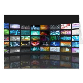 Concept de technologie de production de télévision carte de vœux