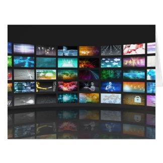 Concept de technologie de production de télévision carte de vœux grand format