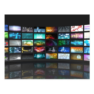 Concept de technologie de production de télévision carte postale