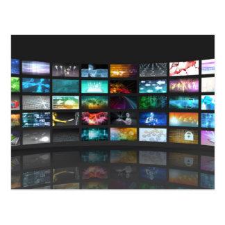 Concept de technologie de production de télévision cartes postales