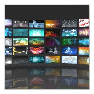 Concept de technologie de production de télévision carton d'invitation  13,33 cm
