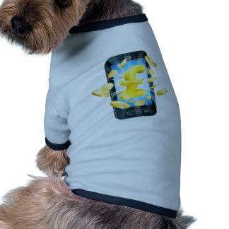 Concept de téléphone d argent de livre manteaux pour animaux domestiques