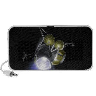 Concept d'un équipage soufflant haut-parleur iPod