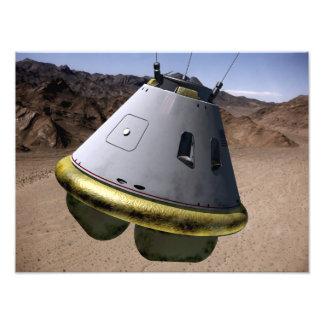 Concept d'un véhicule d'exploration d'équipage impression photographique