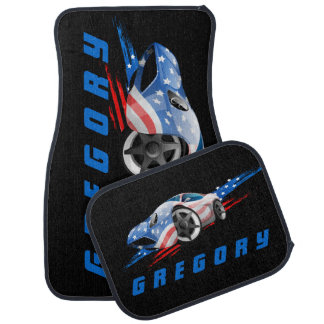 Concept Muscle Car In American Flag Colors 2 Car Liners
