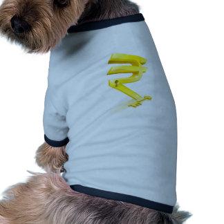 Concept principal de serrure de yuan tee-shirts pour animaux domestiques
