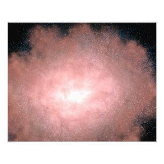Concept quelle de galaxie poussiéreuse et impression photo
