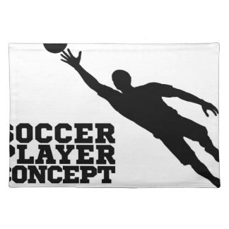 Concept Silhouette Soccer Football Player Placemat