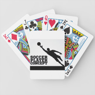 Concept Silhouette Soccer Football Player Poker Deck